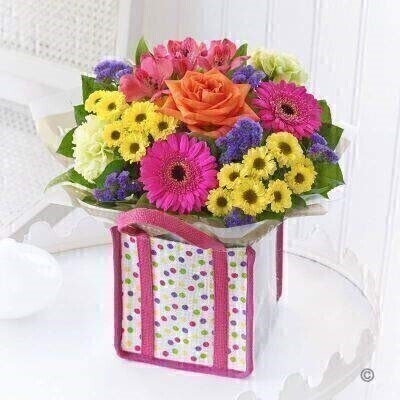 <p>THIS ARRANGEMENT IS DONE IN FLORAL FOAM AND COMES PRE ARRANGED IN THE BAG FOR DISPLAY</p>